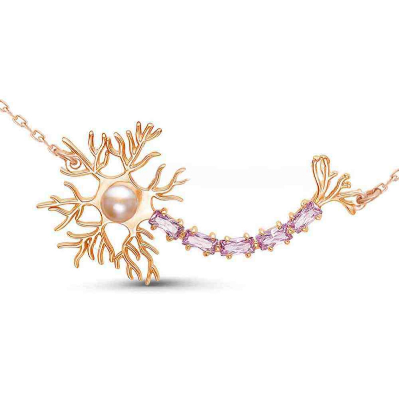 """Necklace """"Neuron"""" gold plated"""
