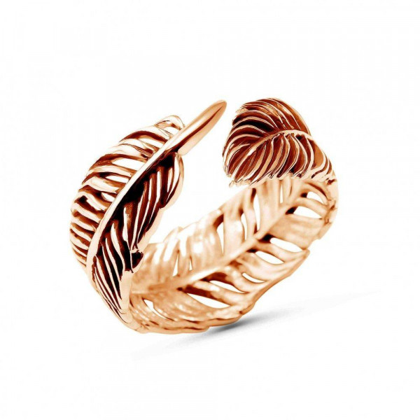 """Ring """"Feather"""" gold plated"""