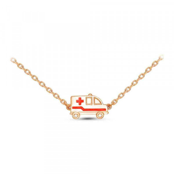 """Necklace """"Ambulance"""" gold plated"""