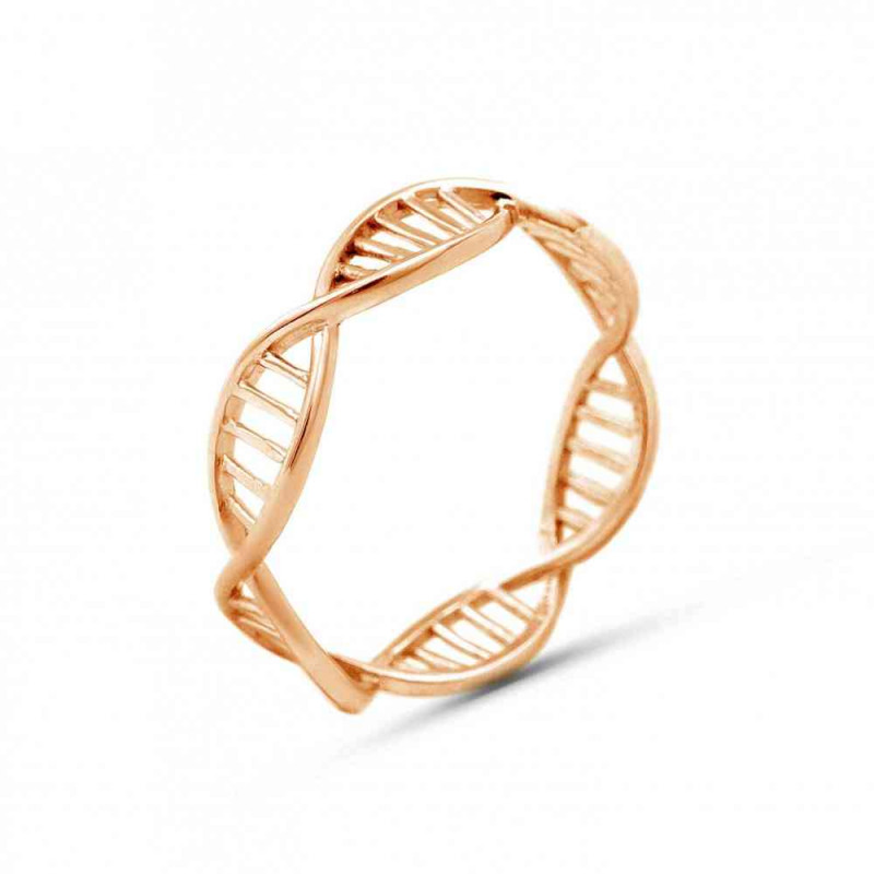 """Ring """"DNA"""" gold plated"""