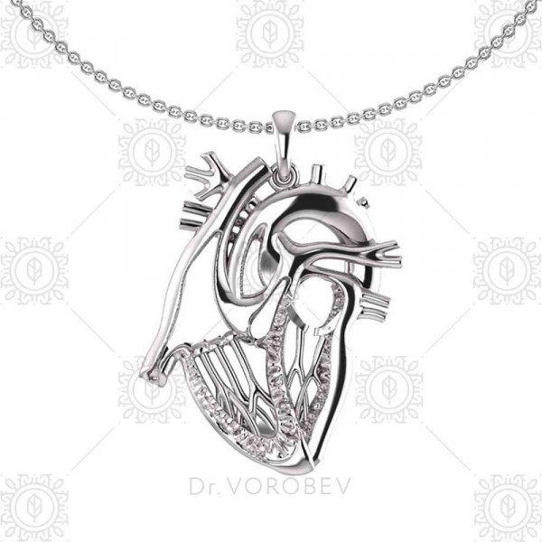 """Pendant """"Anatomical heart sectional"""""""
