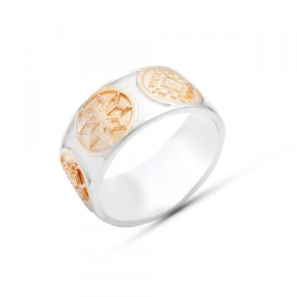 """Ring """"Slavic"""" with local gold plating"""