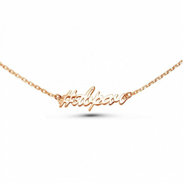 """Necklace """"#YAVRACH"""" gold plated"""