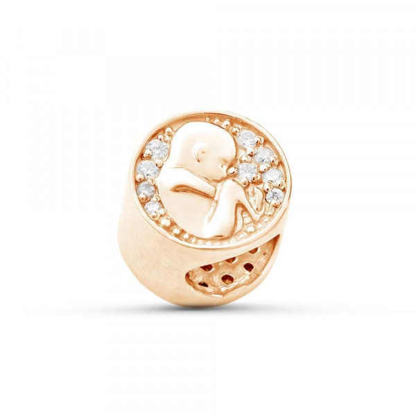 """Charm """"Embryo"""" gold plated"""