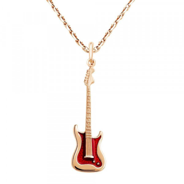 """Pendant """"Guitar"""" gold plated"""