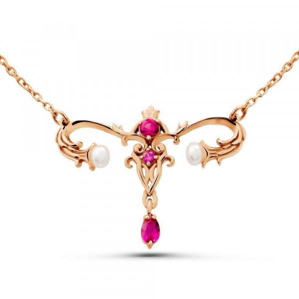 """Necklace """"Womb № 3"""" gold plated"""