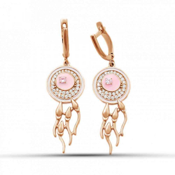 """Earrings """"Nascency"""" gold plated"""