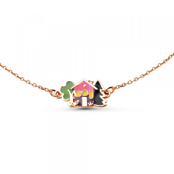 """Necklace """"House"""" gold plated"""