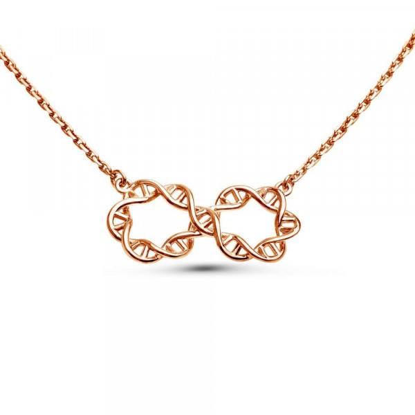 """Necklace """"Infinity DNA"""" gold plated"""