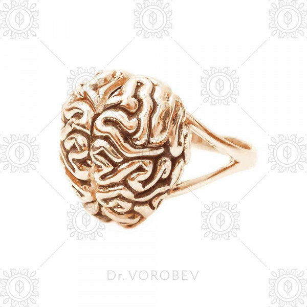 """Ring """"Brain"""" gold plated"""