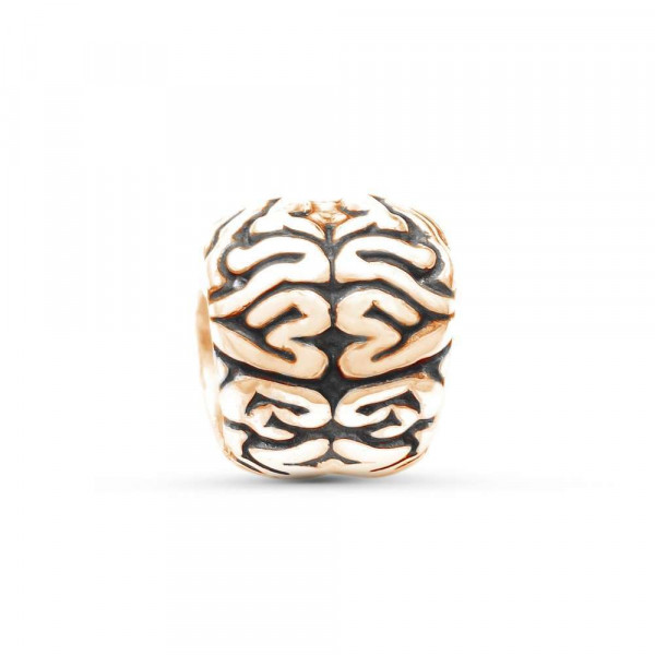 """Charm """"Brain"""" gold plated"""