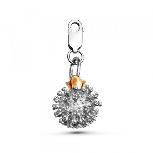 """Charm """"Coronavirus"""" on lobster clasp with local gold plating"""