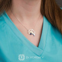 """Necklace """"Brain hypophysis"""" gold plated"""