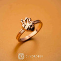 """Ring """"Heart with vessels"""" gold plated"""
