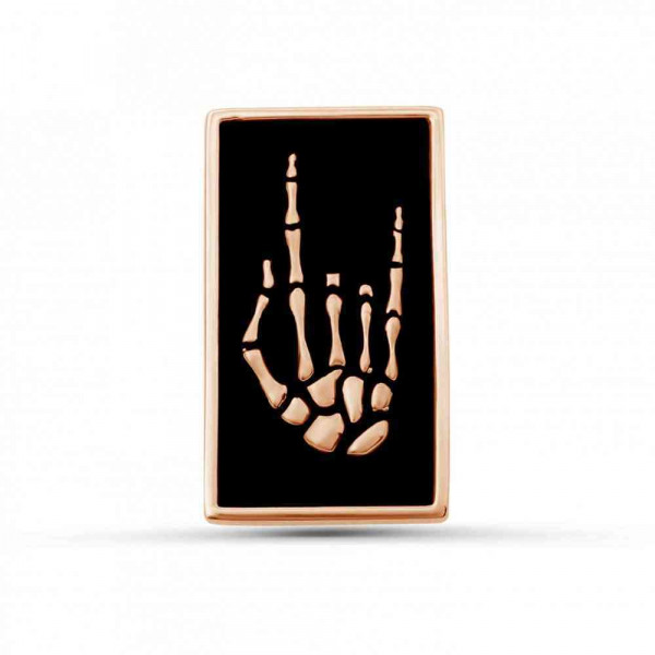 """Pin """"Heavy metal"""" gold plated"""