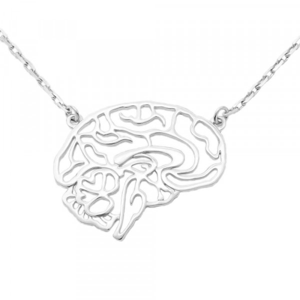 """Necklace """"Brain carved"""""""