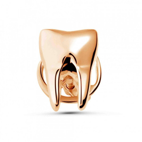 """Pin """"Tooth"""" gold plated"""