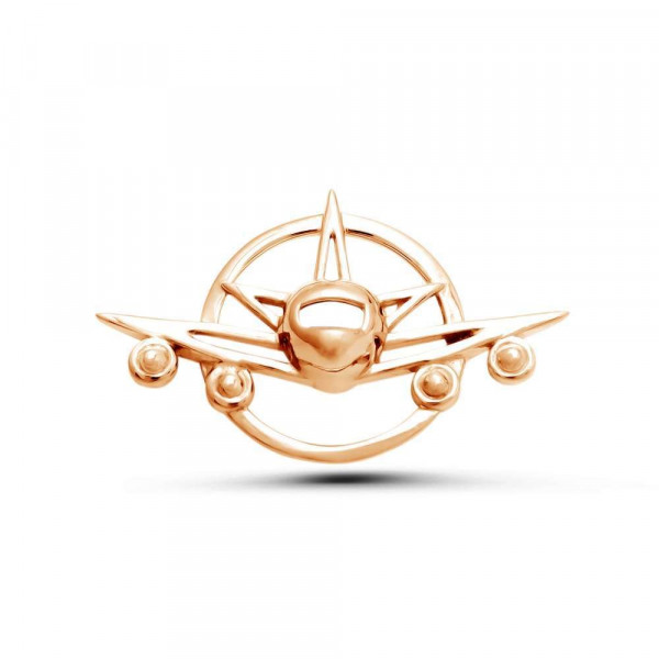 """Brooch """"Airplane"""" gold plated"""
