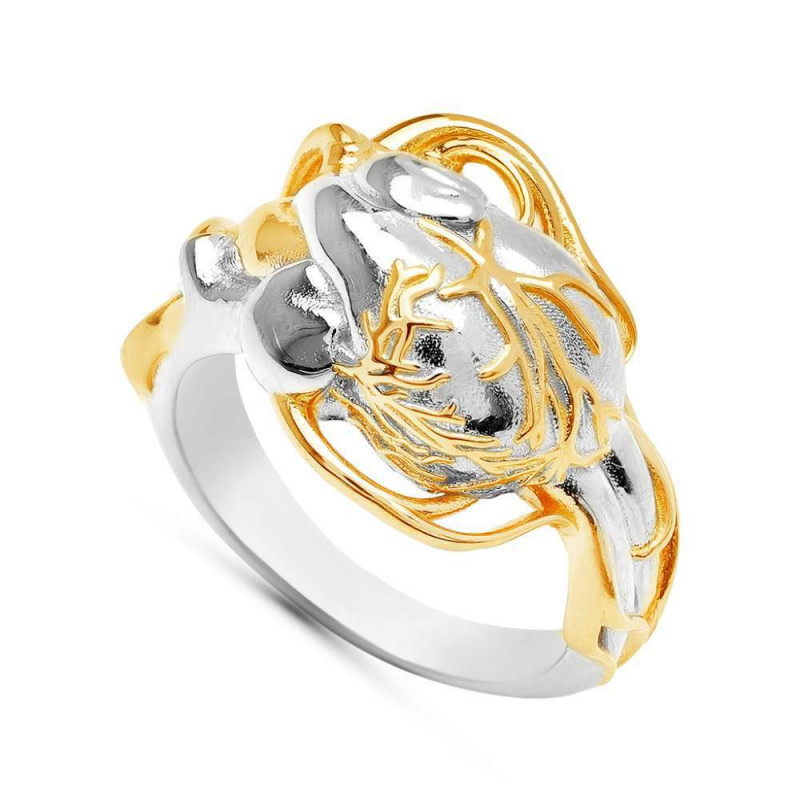 """Ring """"Anatomical Heart"""" with local gold plating"""