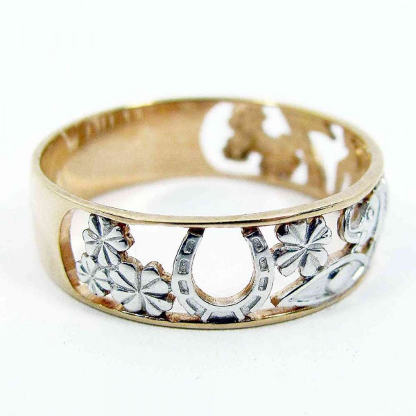 """Ring """"Happiness"""" gold plated"""