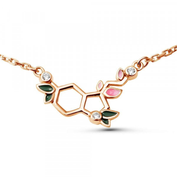 """Necklace """"Blooming Serotonin"""" gold plated"""