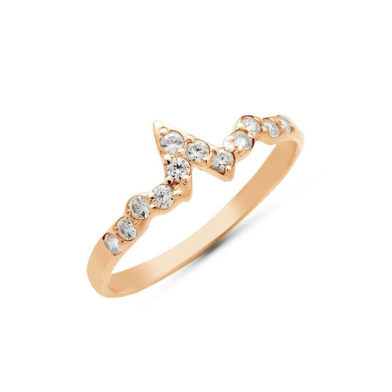 """Ring """"ECG small"""" gold plated"""