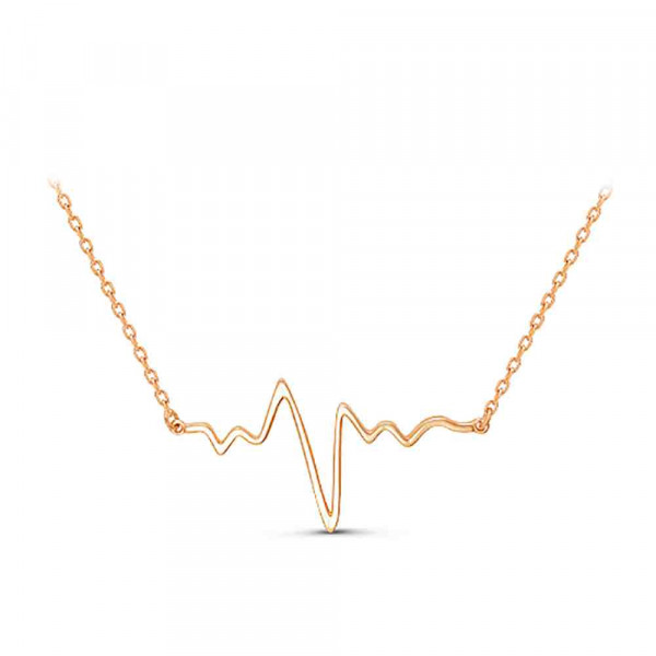 """Necklace """"ECG № 2"""" gold plated"""