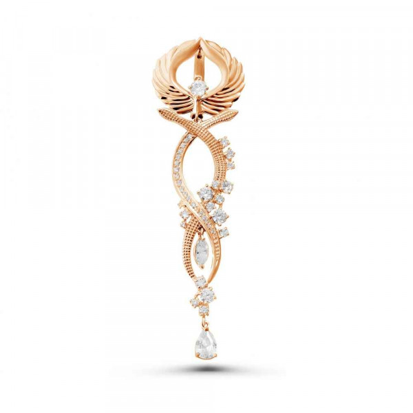 """Mono-earring """"Caduceus № 9"""" gold plated"""