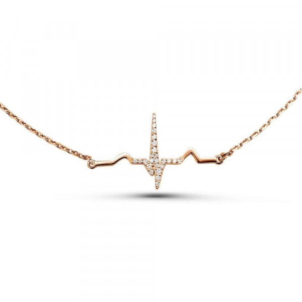 """Necklace """"ECG № 3"""" gold plated"""
