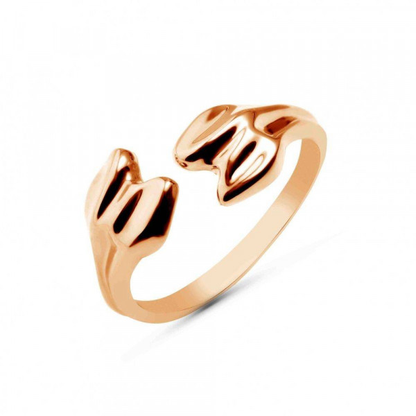 """Ring """"Bone"""" gold plated"""