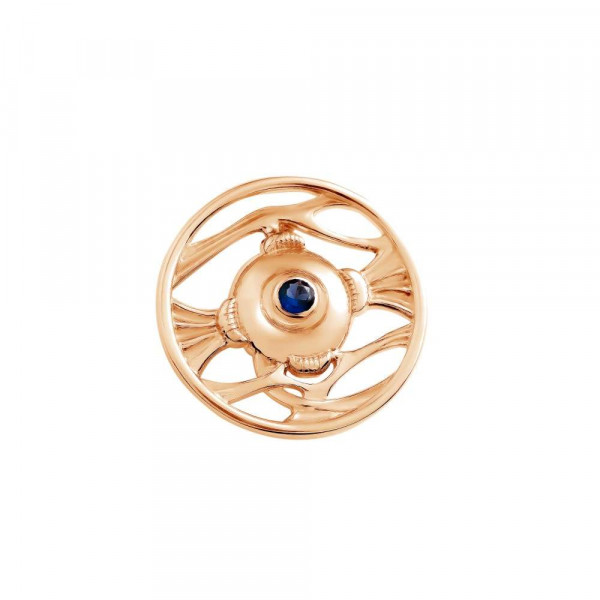 """Brooch """"Anatomical Eye"""" gold plated"""