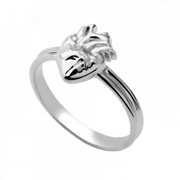 """Ring """"Heart with vessels"""""""
