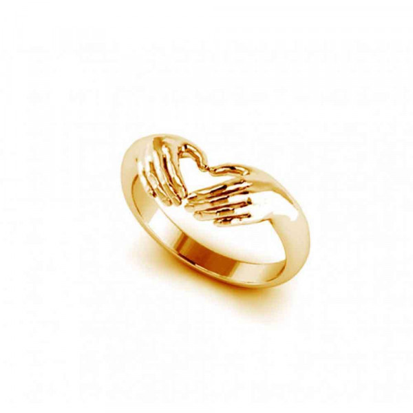 """Ring """"Hands-heart"""" gold plated"""