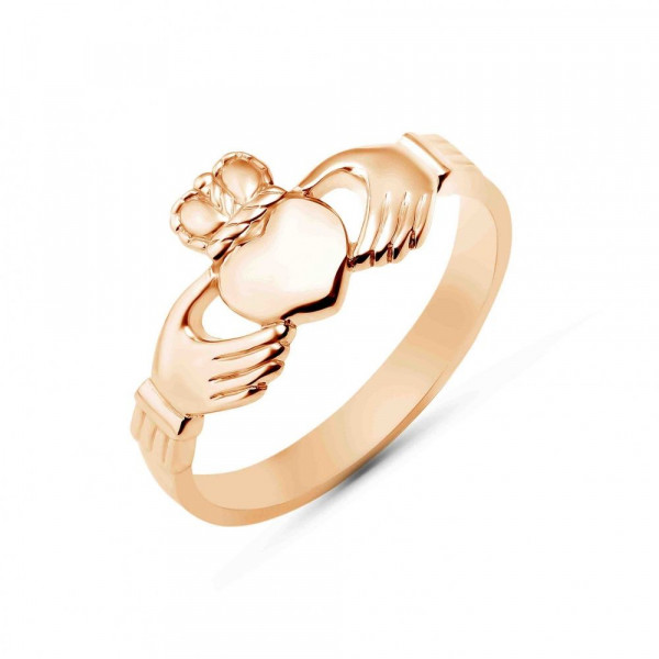 """Ring """"Claddach with crown"""" gold plated"""