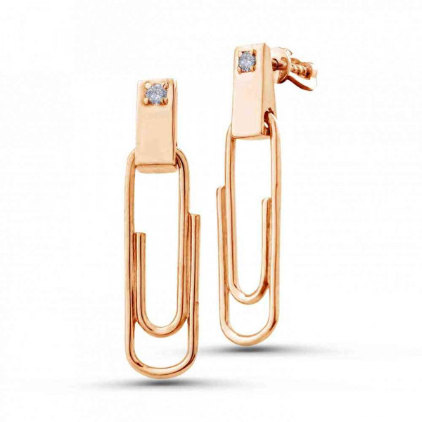 """Studs """"Paper clips"""" gold plated"""