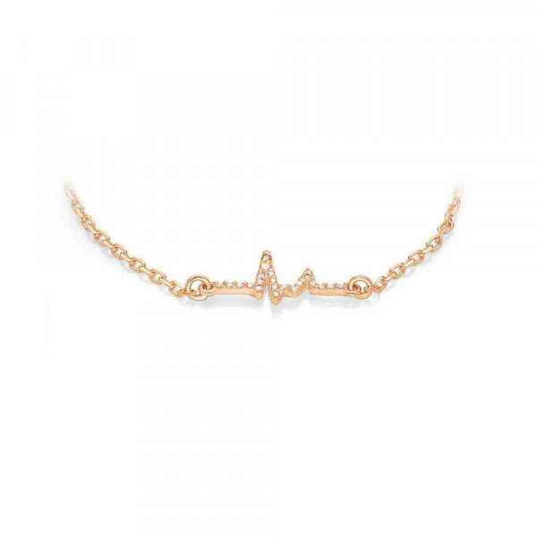 """Necklace """"ECG small"""" gold plated"""