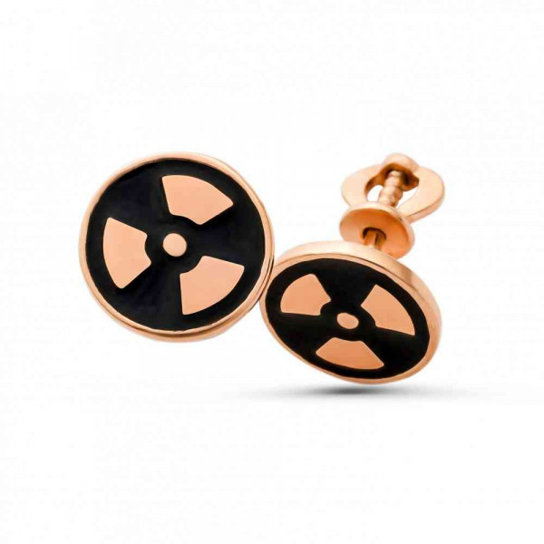 """Studs """"Radiation"""" gold plated"""