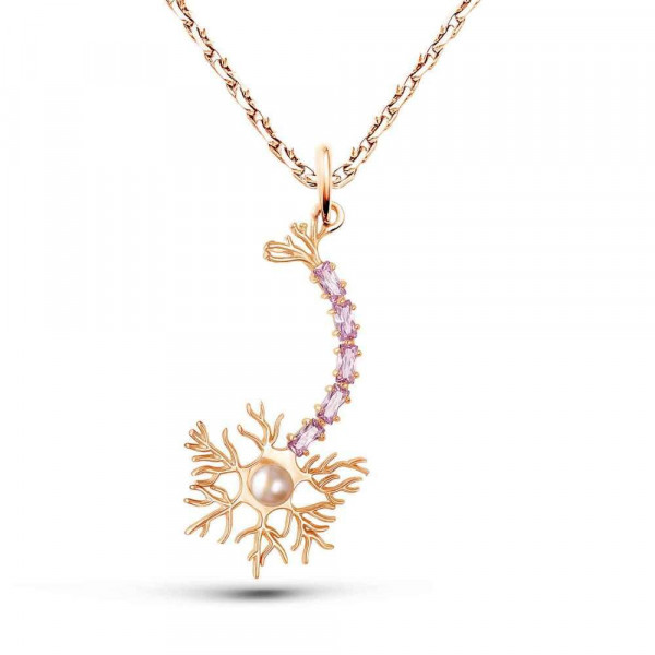 """Pendant """"Neuron"""" gold plated"""