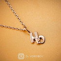 """Pendant """"H2O"""" gold plated"""
