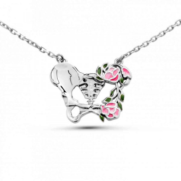 """Necklace """"Anatomical butterfly"""""""