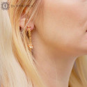 """Earrings """"Spine"""" gold plated"""