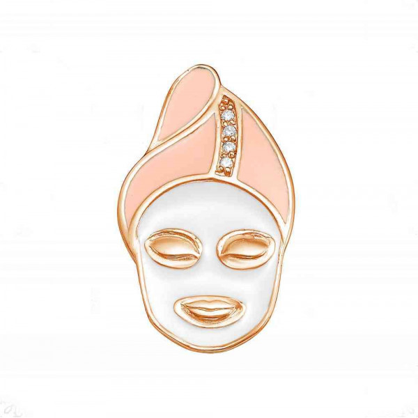"""Brooch """"Mask"""" gold plated"""